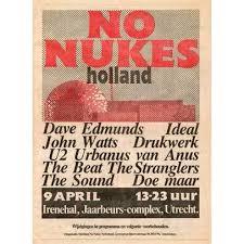 """""""No Nukes"""" festival in de jaarbeurs in Utrecht (9-4-1982)"""