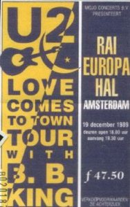 U2 in de Amsterdam RAI (18-12-1989) CD-SCORE