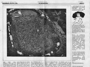 """Artikel """"De Gezinsbode"""" 23 april 1978 over Pinkpop (Deel 2)"""
