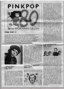 Pinkpop flyer 1980
