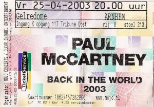 Paul McCartney in de Gelredome (25-4-2003)