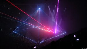 Roger Waters laser show