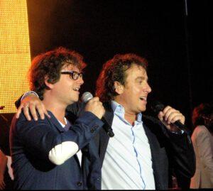 Guus Meeuwis en Marco Borsato in het Westerpark (09-07-2010)