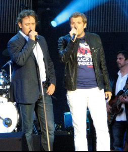 Marco Borsato en Jaap Reesema in het Westerpark (09-07-2010)